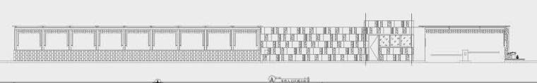 四川成都金色海蓉景观设计施工图-车库入口立面图
