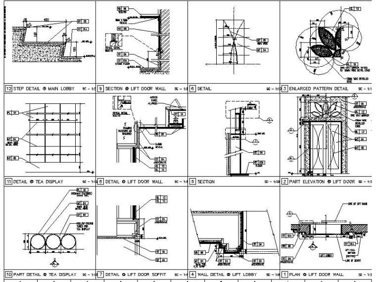 【超全】5600多套室内设计施工图大样节点剖面图合集_2
