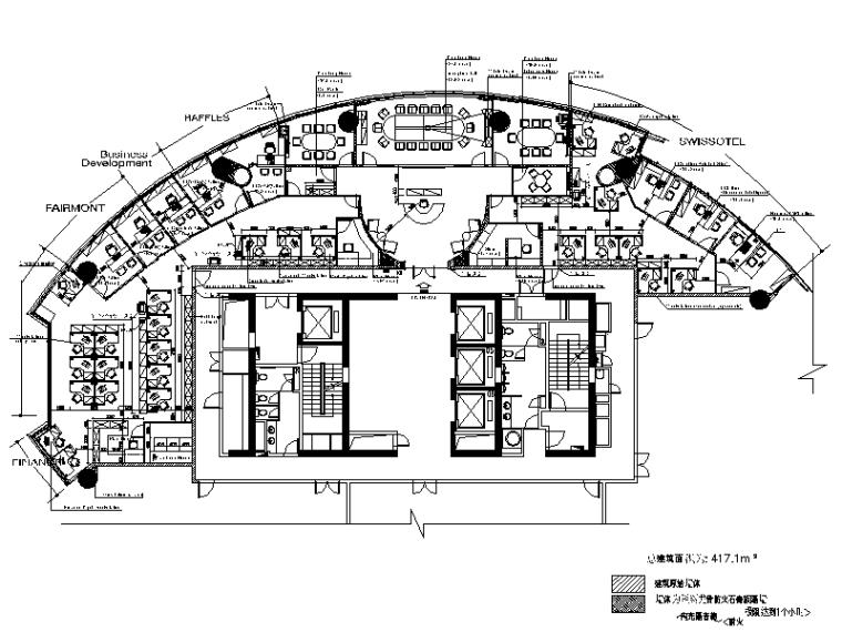 全套办公室室内设计cad施工图(含效果图)图片