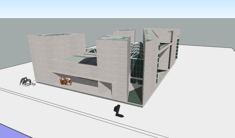 贝聿铭6个作品sketchup模型