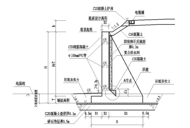 中铁黑山北站扶壁式挡土墙施工技术交底