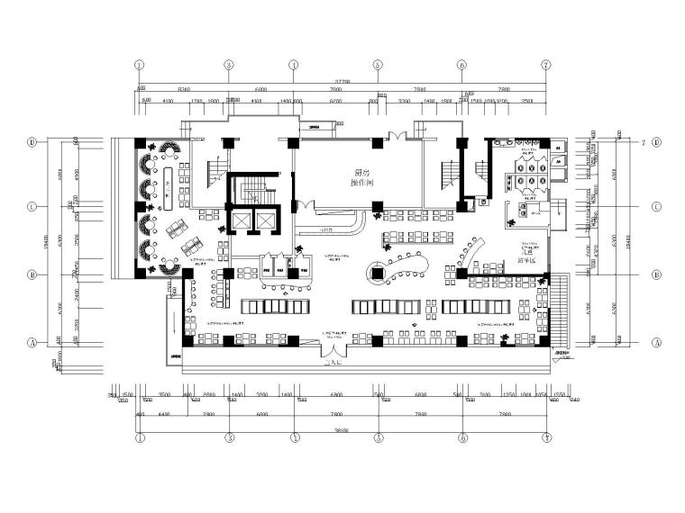 现代简约风格咖啡厅装修施工图(附效果图)