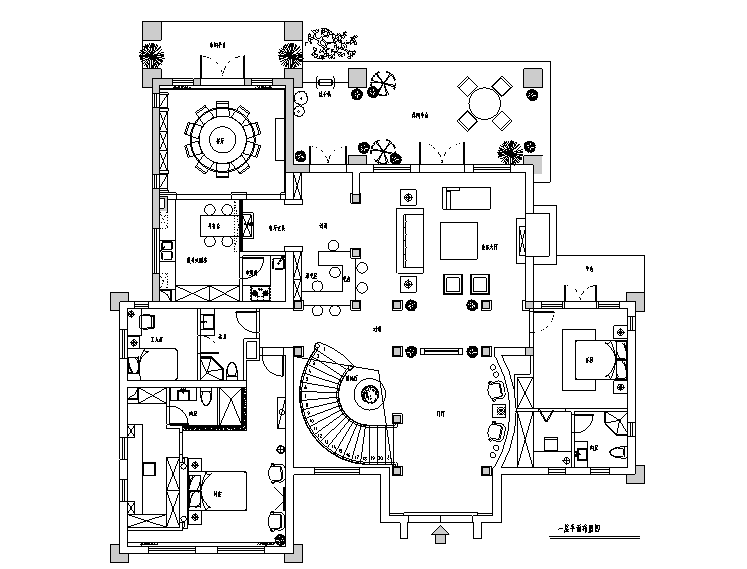 [上海]欧式古典宫廷500平米独栋别墅设计施工图(附效果图)