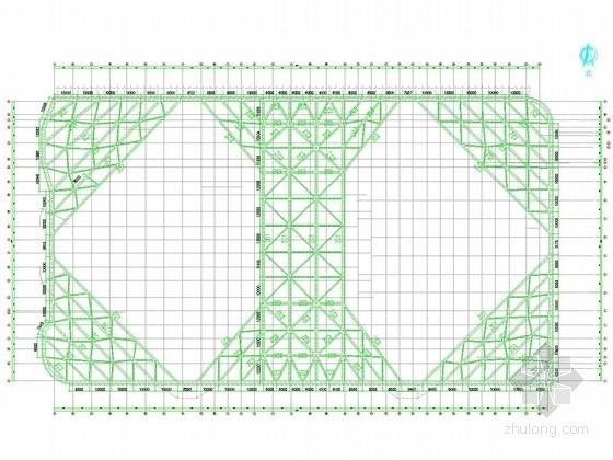[浙江]12米深基坑排桩加一道内支撑支护施工图(角撑对撑布置)