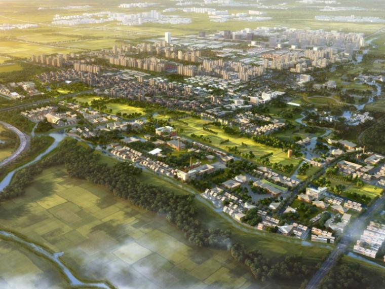 [上海]青浦重固镇概念规划景观方案文本-AECOM(新型城镇化综合示范区)