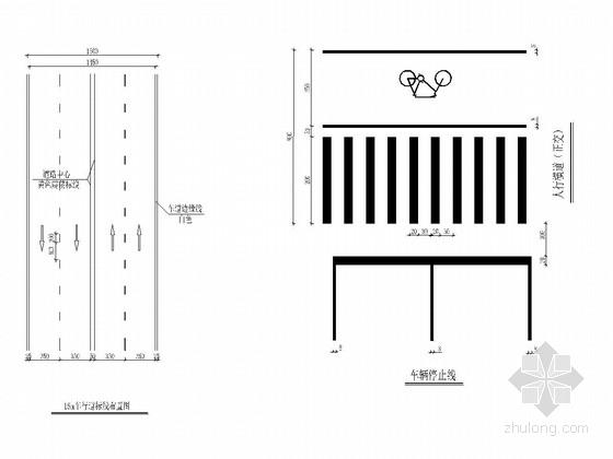 [安徽]城市支路交通工程标志标线施工图设计31张