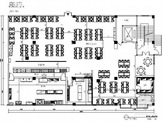 连锁现代简约快餐店室内装修施工图