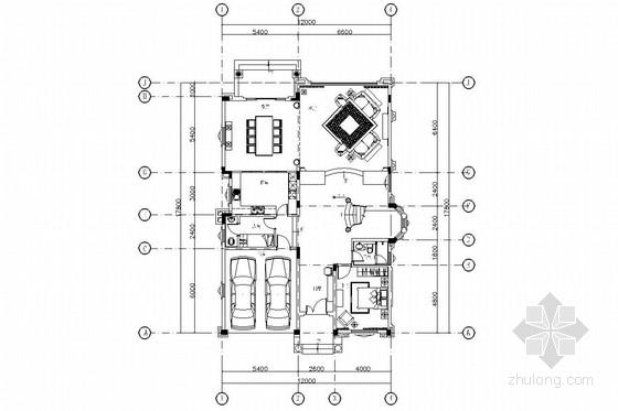 美式新古典别墅室内设计施工图(含实景照片)