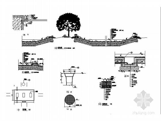 人工水池详图