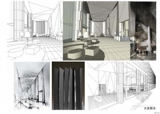 [广州]某地块办公楼及公寓楼室内方案图