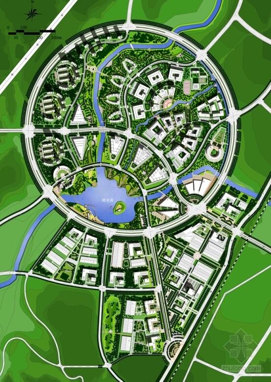 [山西]城市核心地块工业园区规划设计方案文本-城市核心地块工业园区规划总平面图