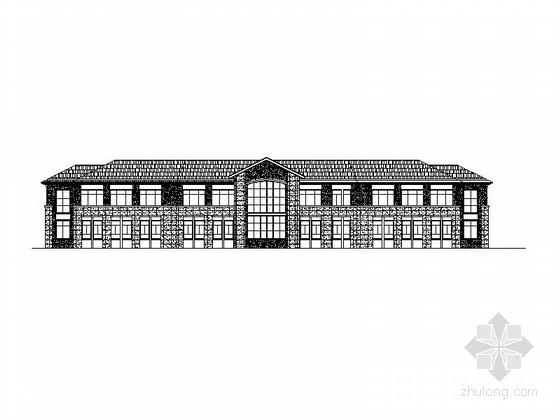 中式风格老年人活动中心建筑施工图