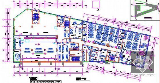 [广东]2015年广场文化活动中心装修工程预算书(附施工图纸)-05三层平面图