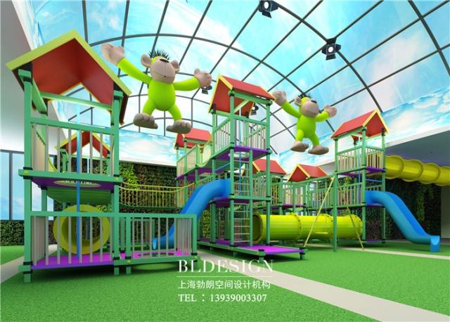郑州室内儿童游乐园设计案例 勃朗设计作品