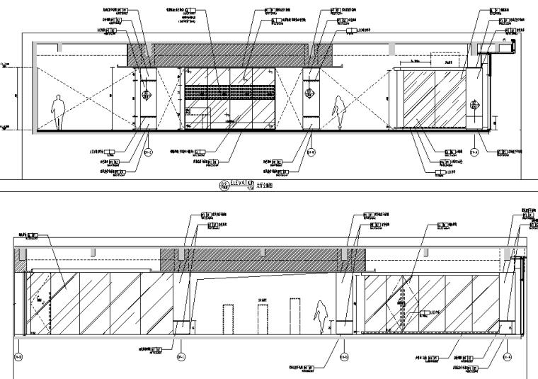 [上海]知名地产御河硅谷售楼空间设计施工图(附效果图+软装方案)-立面图
