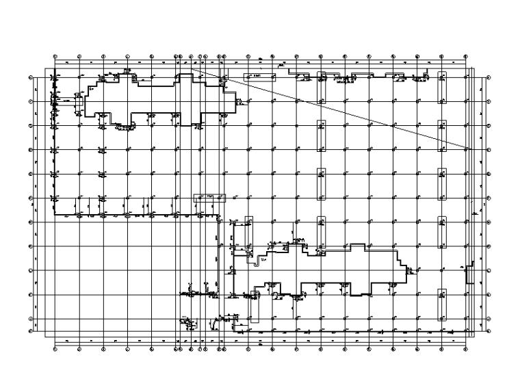 框架结构二层商业楼及地库结构施工图2014