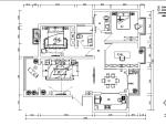 【河南】洛阳130平米中式风格样板房设计施工图(附效果图)