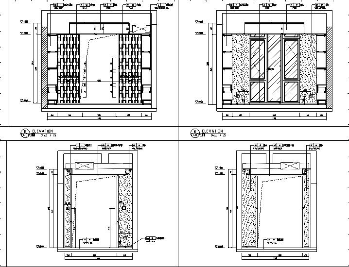 【广东】现代东方内涵风格别墅设计施工图(附效果图+材料表)_2