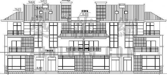 某三层小型别墅建筑施工图