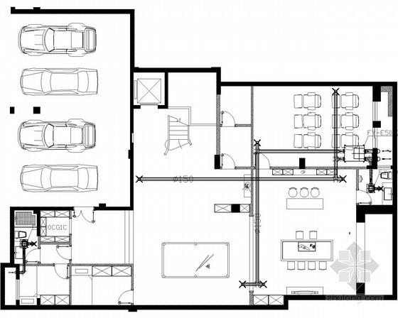 [福建]三层别墅住宅空调系统设计施工图(含建筑、结构、水电、报价)