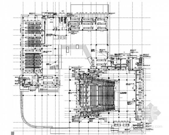 [江苏]多层综合建筑空调系统设计施工图(座椅送风)