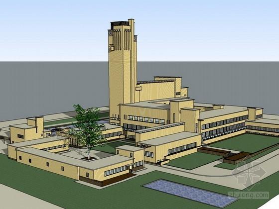 著名市政厅办公建筑SketchUp模型