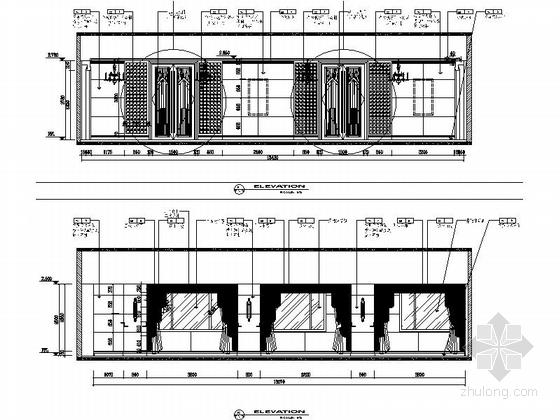 [江苏]气势恢宏旅游休闲花园式酒店附楼室内装修施工图(含效果)小餐厅立面图