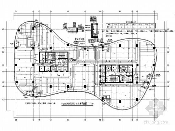 [北京]47万平米地标建筑给排水全套图纸(中水系统 气体灭火系统)
