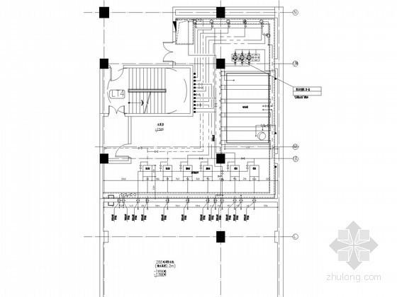 [安徽]多层办公楼卫生间泵房给排水详图