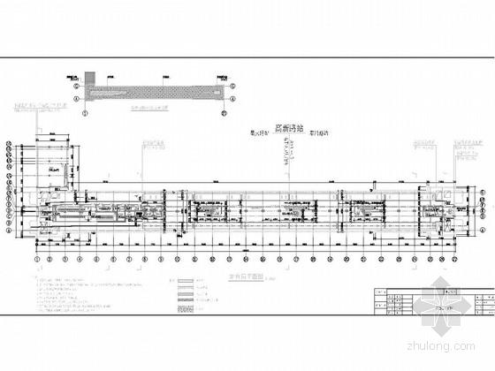 [江苏]地下两层明挖岛式车站施工图62张(含通道风道风井)