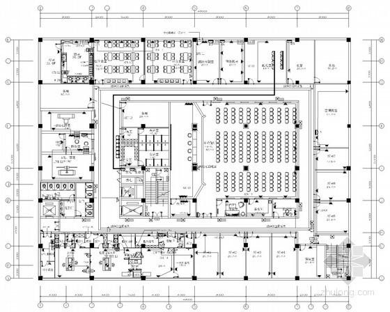 [山西]八层市中心医院及裙楼全套电气施工图纸(含暖通)