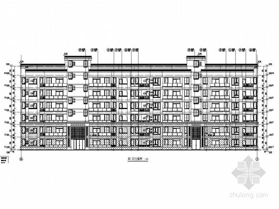 4100平六层框架结构住宅楼结构施工图(含建筑施工图)