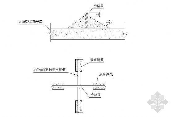 防滑地砖等铺设平面剖面详图