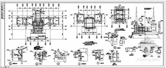 某别墅塔屋顶造型节点构造详图