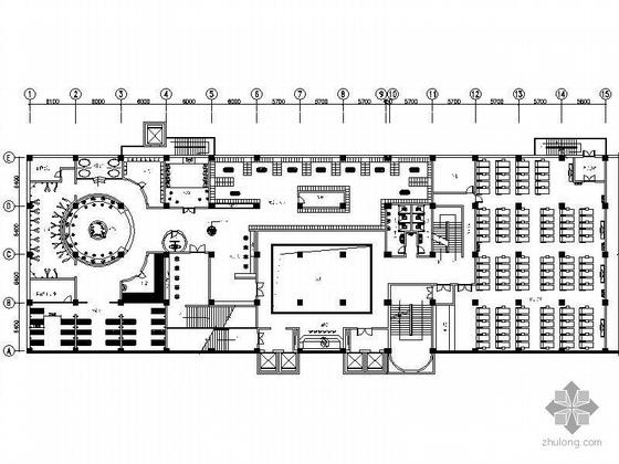 休闲酒店二层装修设计施工图