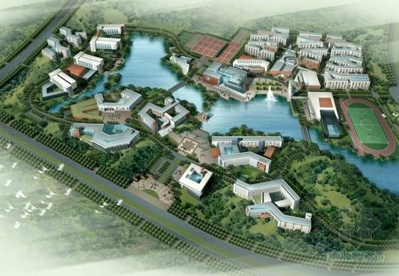 [广东]现代风格高校校区规划及单体方案文本(含CAD 知名大学设计)