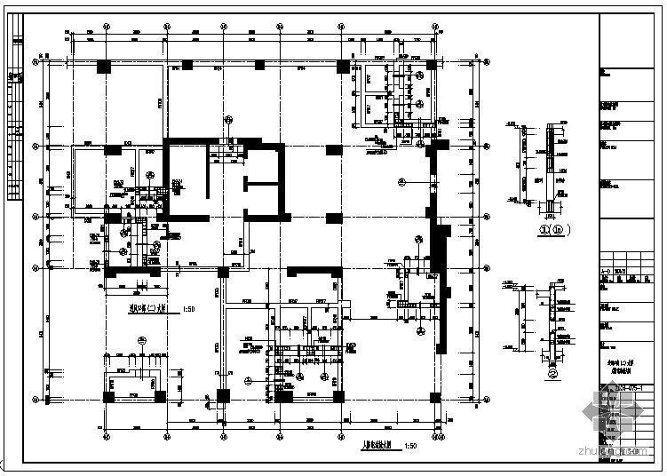 某人防地下室口部大样节点构造详图