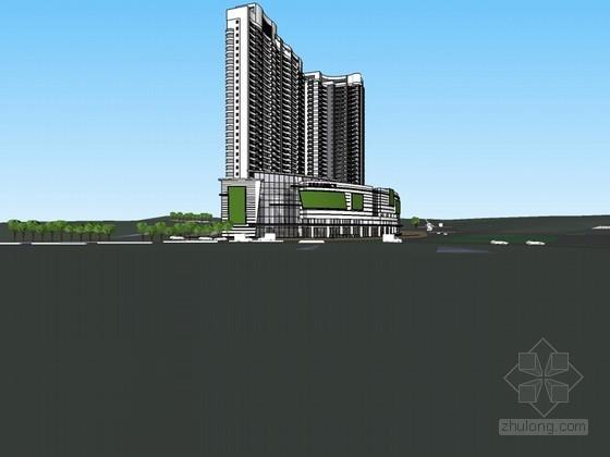 国际广场SketchUp模型下载