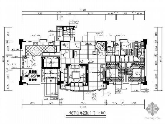 双层豪华花园别墅设计施工图(装饰.水电)