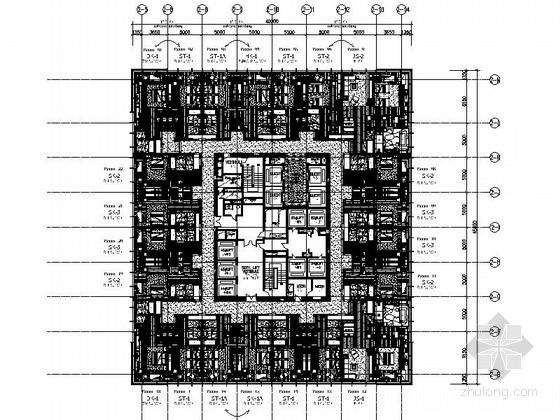 [辽宁]精品豪华五星级现代风格酒店客房酒廊部分室内装修施工图