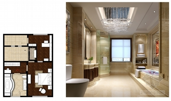 [山西]豪华欧式风格三层别墅室内装修设计方案卫生间