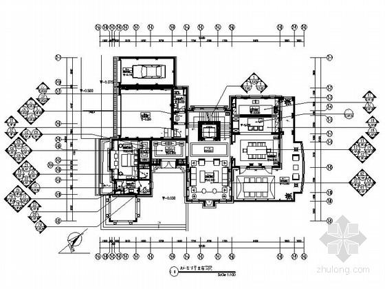 [宁波]名师新古典双层别墅装修设计施工图(含实景)