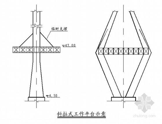 桥梁拼梁三角吊机示意图