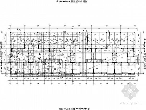 一字型18层框架剪力墙结构施工图