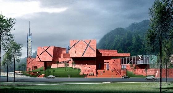 [四川]某四层博物馆及游客中心方案设计(含CAD)