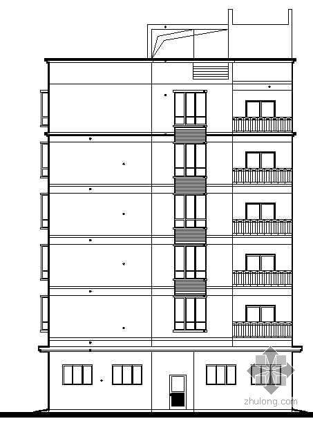 [湖南]某六层环卫设施住宿办公综合楼建筑施工图
