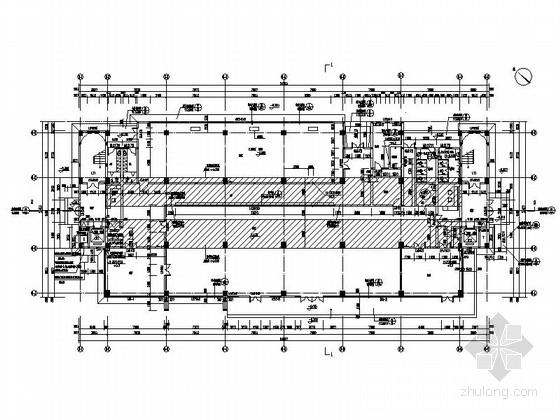 [湖北]八层框架结构涂料外墙办公楼建筑施工图-八层框架结构涂料外墙办公楼建筑首层平面图