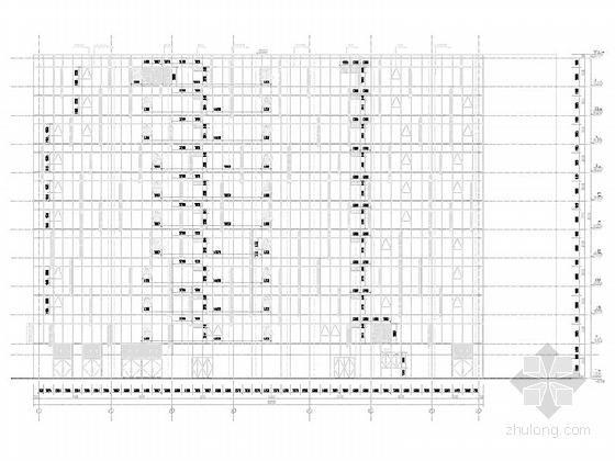 [上海]高层玻璃幕墙框架结构办公商业综合体建筑施工图(600多张图-高层玻璃幕墙框架结构办公商业综合体建筑立面图