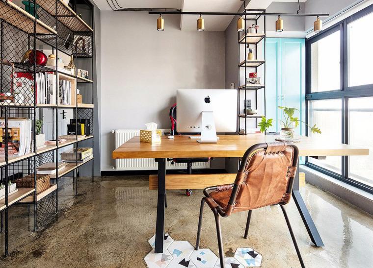 透着轻工业风格的办公空间-9