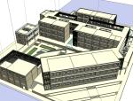 [武汉]某中学教学楼建筑设计SU精模型